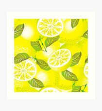 Lemon background Art Print