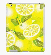 Lemon background iPad Case/Skin