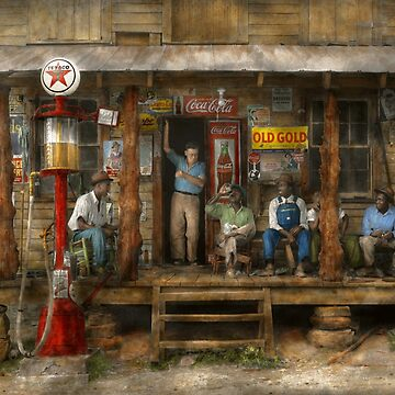 Gas Station - Sunday afternoon - 1939 by mikesavad