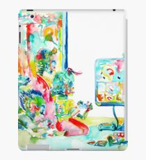 FOUR LITTLE SKELETONS PLAYING VIDEOGAMES(MULTIPLAYER STYLE) iPad Case/Skin