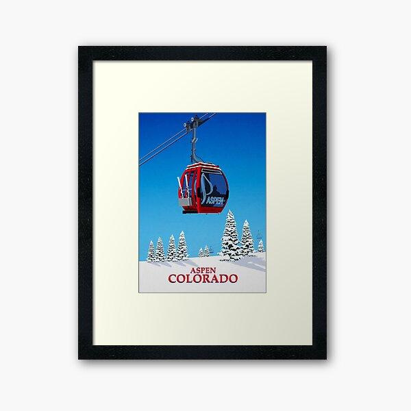 Aspen Ski Resort Framed Art Print