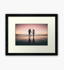 Lovers on the Sunset Framed Print