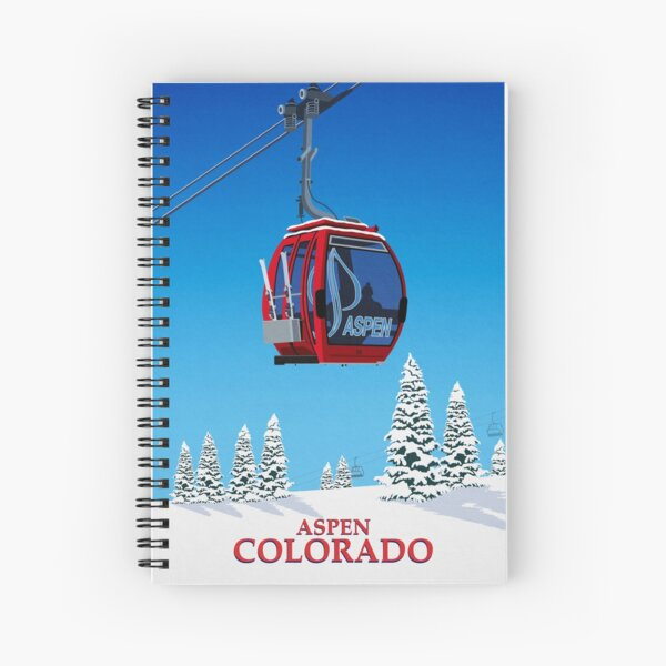 Aspen Ski Resort Spiral Notebook