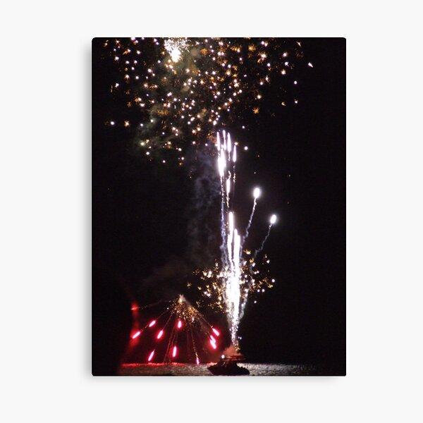Australia day fireworks at Mornington Canvas Print