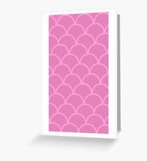 pink arc pattern Greeting Card