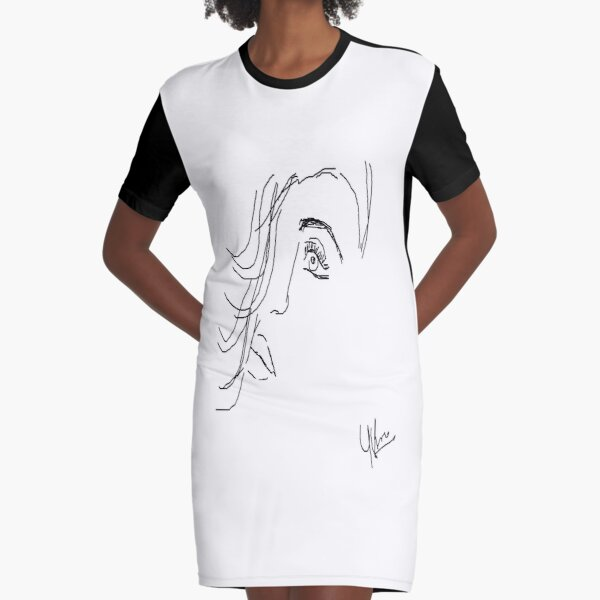 constriction Graphic T-Shirt Dress