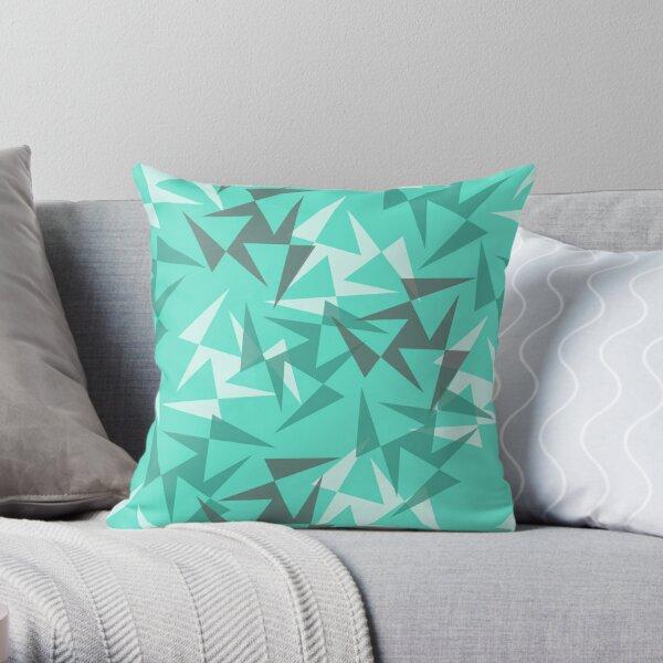 Geo Wheels - Aqua Throw Pillow
