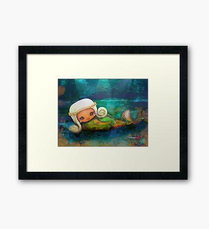CHUNKIE Mermaid Framed Print
