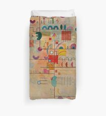 Kandinsky - Graceful Ascent Duvet Cover