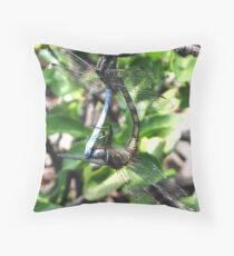 Dragonflies mating Throw Pillow