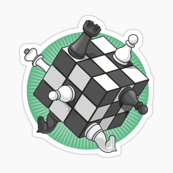 Chess cube Sticker