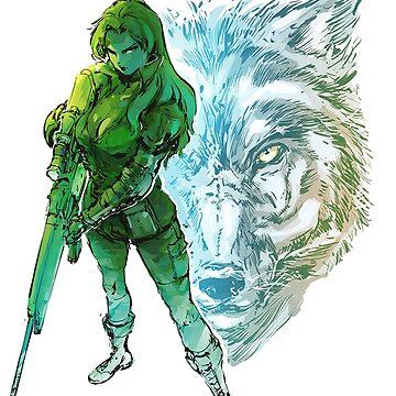 Metal gear solid sniper wolf by deathlesseye
