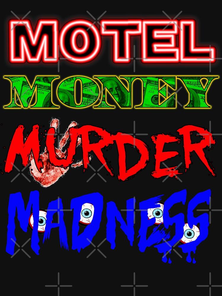 The Doors LA Woman Motel Money Murder Madness Design | Unisex T-Shirt