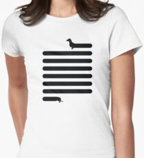 (Very) Long Dog Women's Fitted T-Shirt