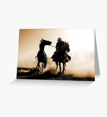 Rodeo Silhouette Greeting Card