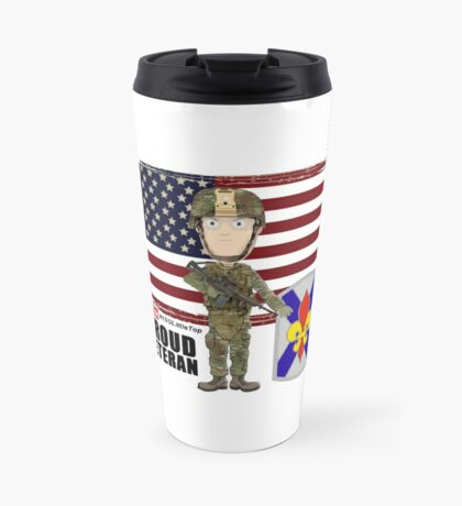 256 Infantry- Proud Veteran Travel Mug