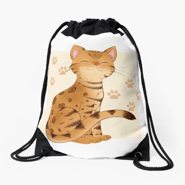 Kitty Smile Drawstring Bag
