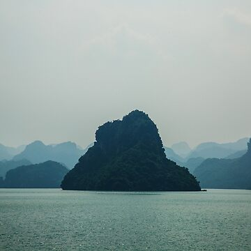 One of the Islands of Ha Long Bay by clemphoto