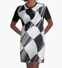 Checkered Flag, Cloth, WIN, WINNER, Chequered Flag, Motor Sport, Racing Cars, Race, Finish line Graphic T-Shirt Dress