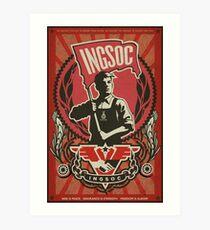 INGSOC 1984 Propaganda Poster Art Print
