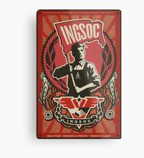 INGSOC 1984 Propaganda Poster Metal Print