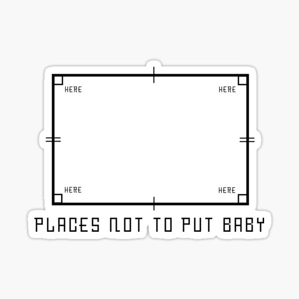 nobody puts baby in the corner Sticker