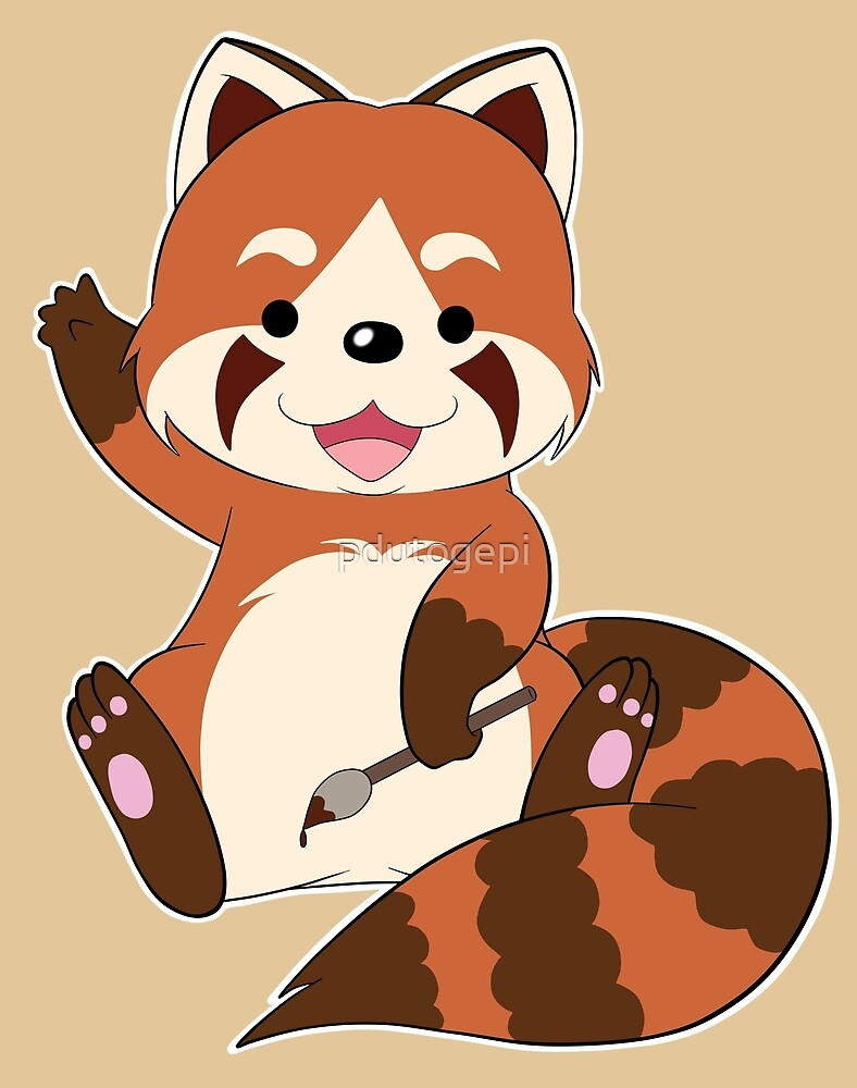Doodle the Red Panda by pdutogepi