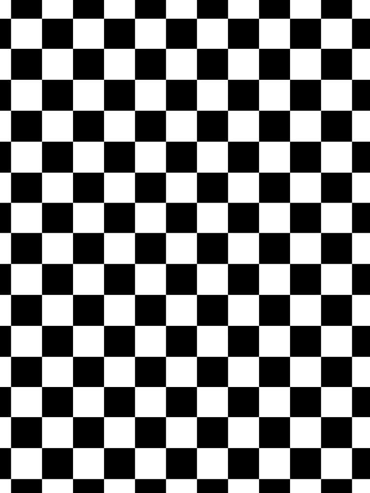 CHECK, Muster, Karos, Karo, Schwarz & Weiß von TOMSREDBUBBLE