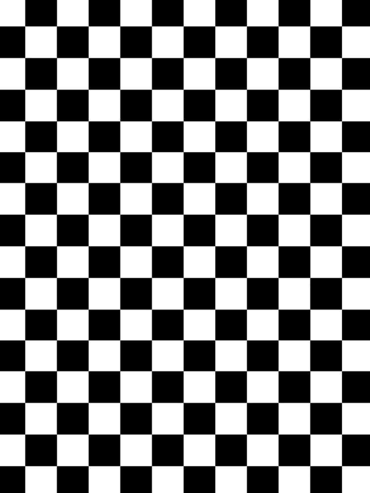 CHECK, Pattern, Checks, Checkered, Black & white by TOMSREDBUBBLE