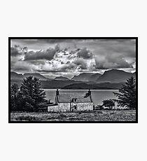 My Highland Home Photographic Print
