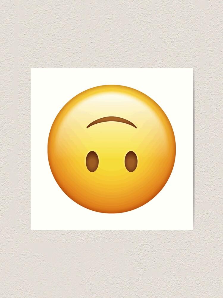 upside down smiley face emoji Art Print by emswim07