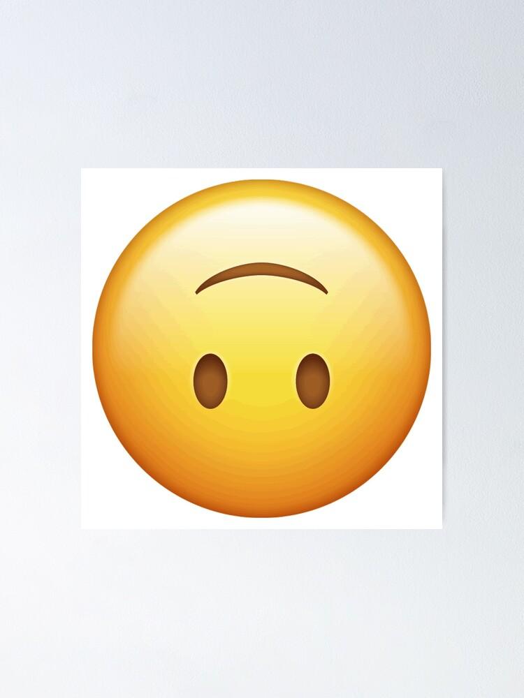 upside down smiley emoticon