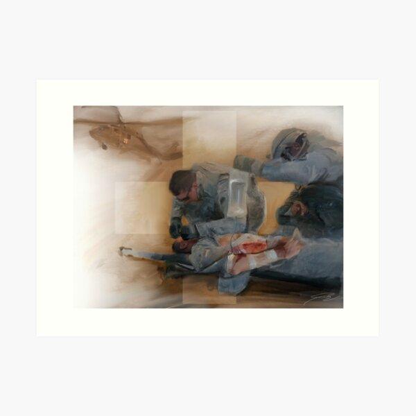 Combat Medic Art Print