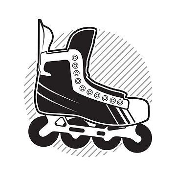 Inline Roller Hockey Skate Graphic by waltondt