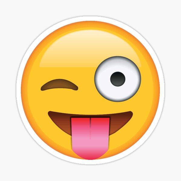 guiñando un lenguado emoji Pegatina