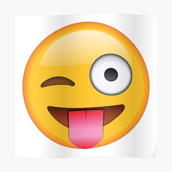 guiñando un lenguado emoji Póster