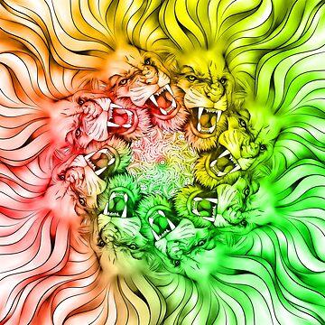Lion Mandala GiveAway by DooodleGod