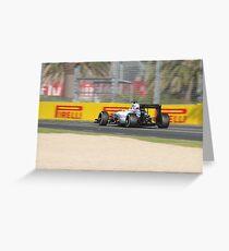 Williams FW37 Formula One Car Greeting Card