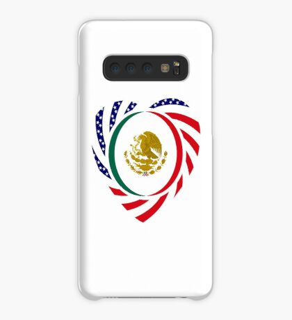 Mexican American Multinational Patriot Flag Series (Heart) Case/Skin for Samsung Galaxy