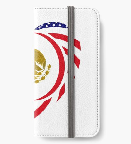 Mexican American Multinational Patriot Flag Series (Heart) iPhone Wallet