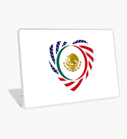 Mexican American Multinational Patriot Flag Series (Heart) Laptop Skin