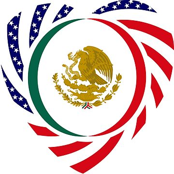 Mexican American Multinational Patriot Flag Series 2.0 by carbonfibreme