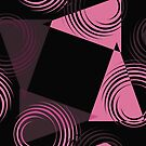 pink and black abstract 44 by Christy Leigh