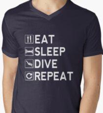 Eat - Sleep - Dive - Repeat Men's V-Neck T-Shirt