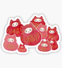 Good Luck Cat Darumas Sticker