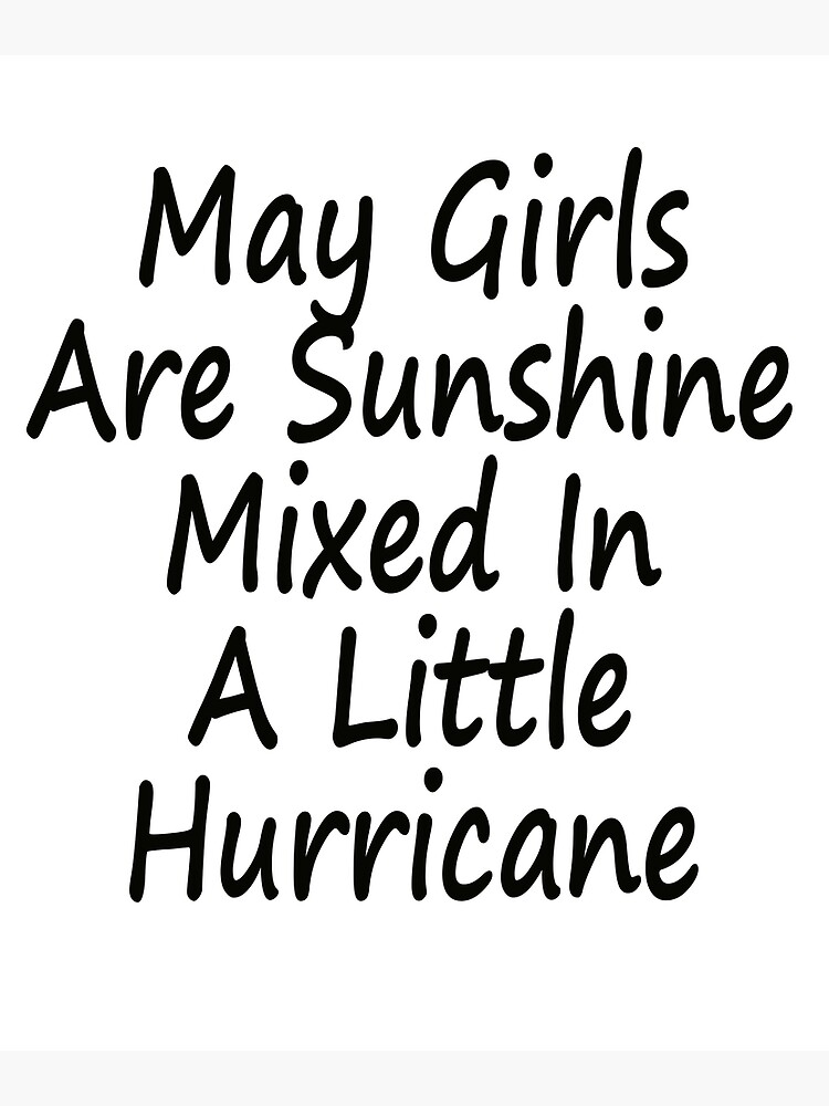 January Girls Are Sunshine Mixed With a Little Hurricane Tank Top