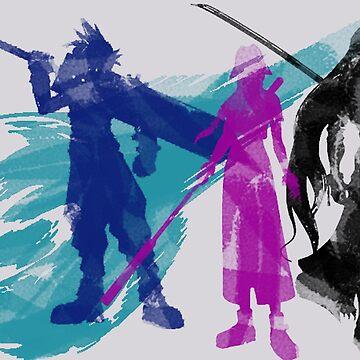 Final Fantasy VII Trio Souls by Giocor86