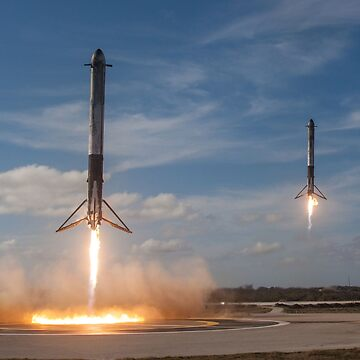 SpaceX Falcon Heavy Boosters Landing (8K resolution) by bobbooo