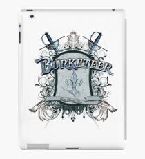 Official Burketeer Logo Badge Blue iPad Case/Skin