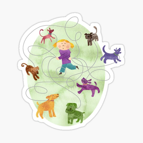 Dog Walker Sticker